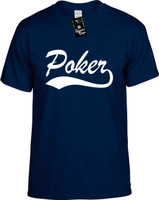 Poker (baseball font) Youth Novelty T-Shirt
