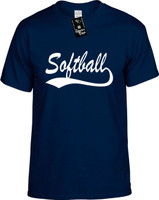 Softball (baseball font) Youth Novelty T-Shirt