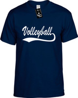 Volleyball (baseball font) Youth Novelty T-Shirt