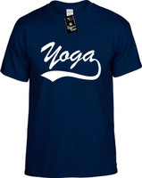 Yoga (baseball font) Youth Novelty T-Shirt