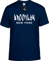Brooklyn New York (city state) cool font Youth Novelty T-Shirt