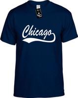 Chicago (baseball font) Illinois city state Youth Novelty T-Shirt