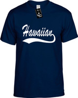 Hawaiin (baseball font) Hawaii Youth Novelty T-Shirt