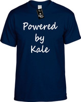 Powered by Kale (Food Health) Vegan Vegetarian Youth Novelty T-Shirt
