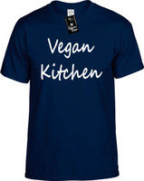 Vegan Kitchen (Food Health) Herbivore Vegetarian Youth Novelty T-Shirt