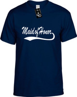 Maid of Honor (baseball font) Youth Novelty T-Shirt