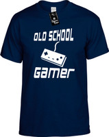 OLD SCHOOL GAMER (with gaming remote control) Youth Novelty T-Shirt