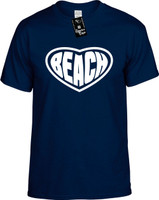 Beach (Heart) Ocean Vacation Youth Novelty T-Shirt