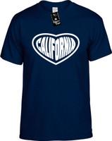 California (Heart) CA Los Angeles Youth Novelty T-Shirt
