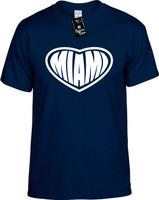 Miami (Heart) Florida Youth Novelty T-Shirt