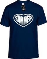 Summer (Heart) Vacation Holiday Youth Novelty T-Shirt