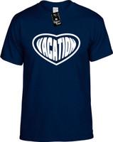 Vacation (Heart) Holiday Youth Novelty T-Shirt