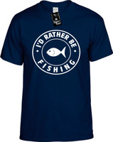 Id Rather be Fishing (round badge) Youth Novelty T-Shirt