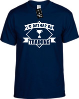 Id Rather be Training with banner) Youth Novelty T-Shirt