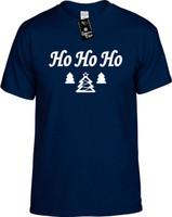 Ho Ho Ho (with Chirstmas Trees) Youth Novelty T-Shirt