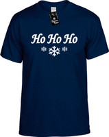 Ho Ho Ho (with snow flakes) Youth Novelty T-Shirt