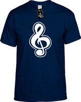 CLEFT NOTE (OUTLINED MUSIC NOTE) Youth Novelty T-Shirt