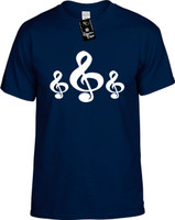 CLEFT NOTE CLUSTER (MUSIC NOTE SYMBOL) Youth Novelty T-Shirt