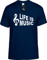 Life is Music (with Cleft Note) Youth Novelty T-Shirt