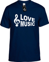 Love Music (with Cleft Note) Youth Novelty T-Shirt