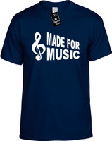 Made for Music (with Cleft Note) Youth Novelty T-Shirt