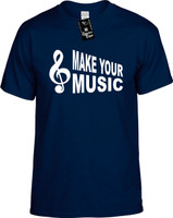 Make Your Music (with Cleft Note) Youth Novelty T-Shirt