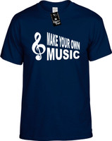 Make Your Own Music (with Cleft Note) Youth Novelty T-Shirt