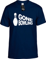 Gone Bowling Youth Novelty T-Shirt
