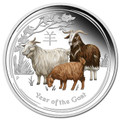 Australia 2015 Year of the Goat 1oz Colour Silver Proof