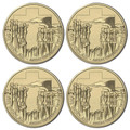 2015 $1 Anzac Centenary Mintmark 4-Coin Set