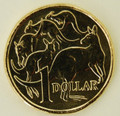 2015 One Dollar Mob of Roos Uncirculated Coin