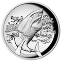 2015 $1 Great White Shark High Relief 1oz Silver Proof