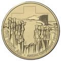 2015 $1 Anzac Centenary M Counterstamp UNC