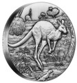 2016 $2 Kangaroo 2oz High Relief Silver Antiqued