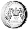 2016 $1 90th Birthday 1oz High Relief Silver Proof
