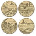 2017 $1 A War Close To Home  Unc 4-Coin Set