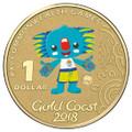 2018 $1 Borobi Mascot Australia Counterstamp Al-Br Unc