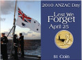 2010 ANZAC Day $1 Coin