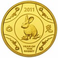 2011 Lunar Series Coin-Year of the Rabbit Gold Proof Coin