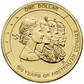 2010 Canberra ANDA Coin 100 Years of Australian Coinage-$1 Al/Br UNC Coin – C Counterstamp