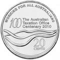 2010 Australian Taxation Office Centenary 20 cent Coin $1 Shipping Australia only