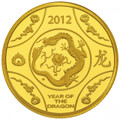 2012 $10 Gold Proof Coin – Year of theDragon 1/10 oz
