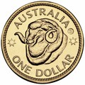 2011 Sydney ANDA – Ram's Head Dollar- $1 Al/Br Unc Coin – 'S' Counterstamp