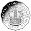 2012 Diamond Jubilee of the Accession of Her Majesty Queen Elizabeth II: 50c Fine Silver Proof Coin