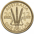 2012 Wheat Sheaf Dollar  ANDA $1 'B' Counterstamp Uncirculated Coin