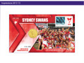 2012 AFL Premiers stamp and coin cover - Sydney Swans