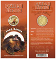 2009 $1 Frosted Uncirculated Pad Printed Coin: Frilled Neck Lizard