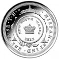Bicentenary of the Holey Dollar and Dump 2013 $1 Fine Silver Proof 'C' Mintmark Coin
