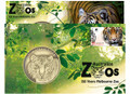 2012 Australian Zoos Sumatran Tiger Stamp and Medallion Cover