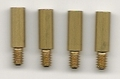 VST COIN AND BANKNOTE: SCREW EXTENSION POSTS. SET OF 4